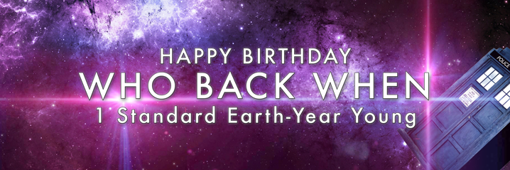 Doctor Who Anniversary Happy Birthday Who Back When