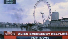 Doctor Who Aliens of London alien emergency helpline