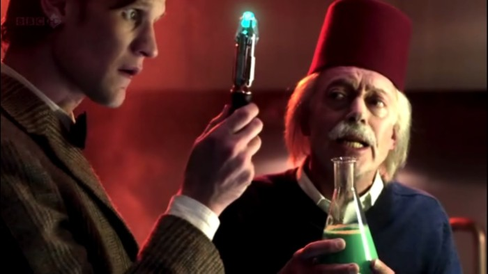 Doctor Who Nickolas Grace as Einstein in Death is The Only Answer