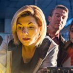 Jodie Whittaker as the Thirteenth Doctor with companions Ryan Sinclair Graham O'Brien and Yasmin Khan