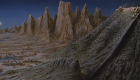 Doctor Who and the Daleks Peter Cushing Matte painting