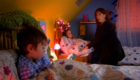 donna-noble-in-the-children's-bedroom-bedtime-story-in-the-nexus-forest-of-the-dead-doctor-who-back-when
