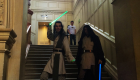 Drew photo bombs Star Wars Jedi cosplay at OxCon Oxford 2016 Comic Con WhoBackWhen