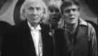 final frame of the serial as doctor ben and polly look at the tenth planet