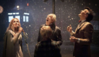 katherine-jenkins-michael-gambon-matt-smith-with-tardis-in-the-snow-a-christmas-carol-doctor-who-back-when