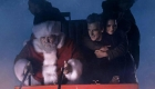 Clara hugs Doctor in Santa's sleigh
