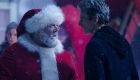 Peter Capaldi as the Doctor faces off with Nick Frost's Santa Clause