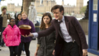 matt-smith-eleven-and-clara-oswald-arrive-on-southbank-bells-of-saint-john-doctor-who-back-when