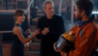 peter-capaldi-twelve-clara-oswald-companion-in-tardis-with-awesome-orson-pink-listen-doctor-who-back-when