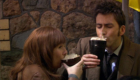 tennant-and-donna-drinking-guiness-cappuccino-on-planet-chinatown-turn-left-doctor-who-back-when