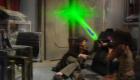 tom-baker-four-and-companion-leela-use-a-shield-laser-gun-on-a-door-underworld-doctor-who-back-when