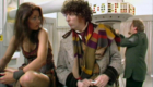 tom-baker-fourth-doc-with-companion-leela-in-professor-marius-lab-invisible-enemy-doctor-who-back-when