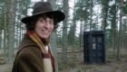 tom-baker-fourth-doc-with-his-tardis-in-a-scottish-forest-terror-of-the-zygons-doctor-who-back-when