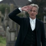 Capaldi as the 12th Doctor salutes in Death in Heaven
